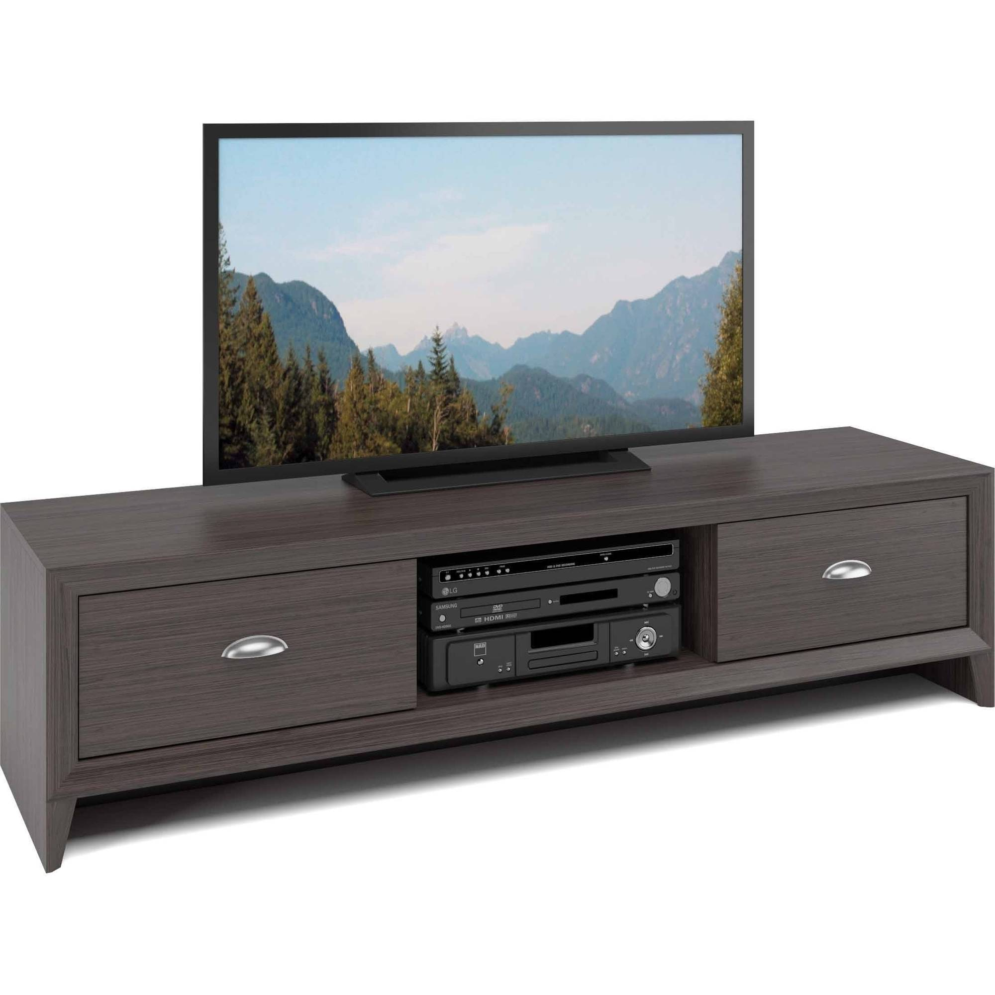 CorLiving TLK-871-B Lakewood TV Bench in Modern Wenge Finish for TVs up to 60""