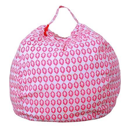 Mosunx Kids Stuffed Animal Plush Toy Storage Bean Bag Soft Pouch Stripe Fabric Chair I (Bean Bag Toss Distance)