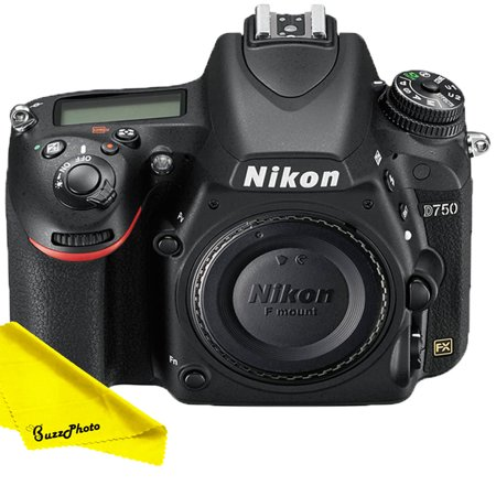 - Nikon D750 DSLR Camera (Body Only) with FREE Buzz-Photo Cleaning Cloth