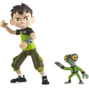 Ben 10 Ben & Grey Matter Action Figure, Ben uses the power of the Omnitrix to help others and stop the bad guys but isn't above a little Super powered mischief now.., By Brand Ben 10