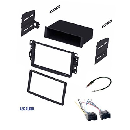 ASC Car Stereo Dash Kit, Wire Harness, Antenna Adapter to Install Radio for some Pontiac G3 (2007-2009 Sedan Only) - Chevrolet Aveo (2007 2008 Sedan Only)- Chevrolet Aveo (2009 2010