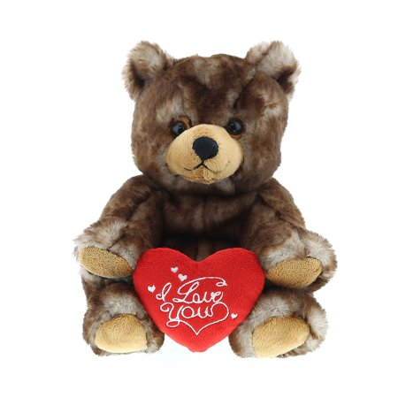 Super Soft Plush Dollibu Cute Sitting Grizzly Bear Red I Love You Valentines Plush](Valentine Day Bears)