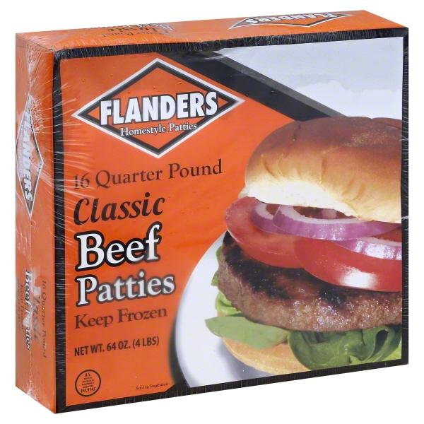 Flanders Beef Patties, 4 Lbs