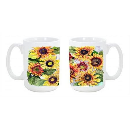 Sunflowers Dishwasher Safe Microwavable Ceramic Coffee Mug 15 oz.