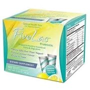 Fivelac Five Lac Probiotic Cleanse Candida Defense 2 Boxes! (120 packs) by Global Health Trax