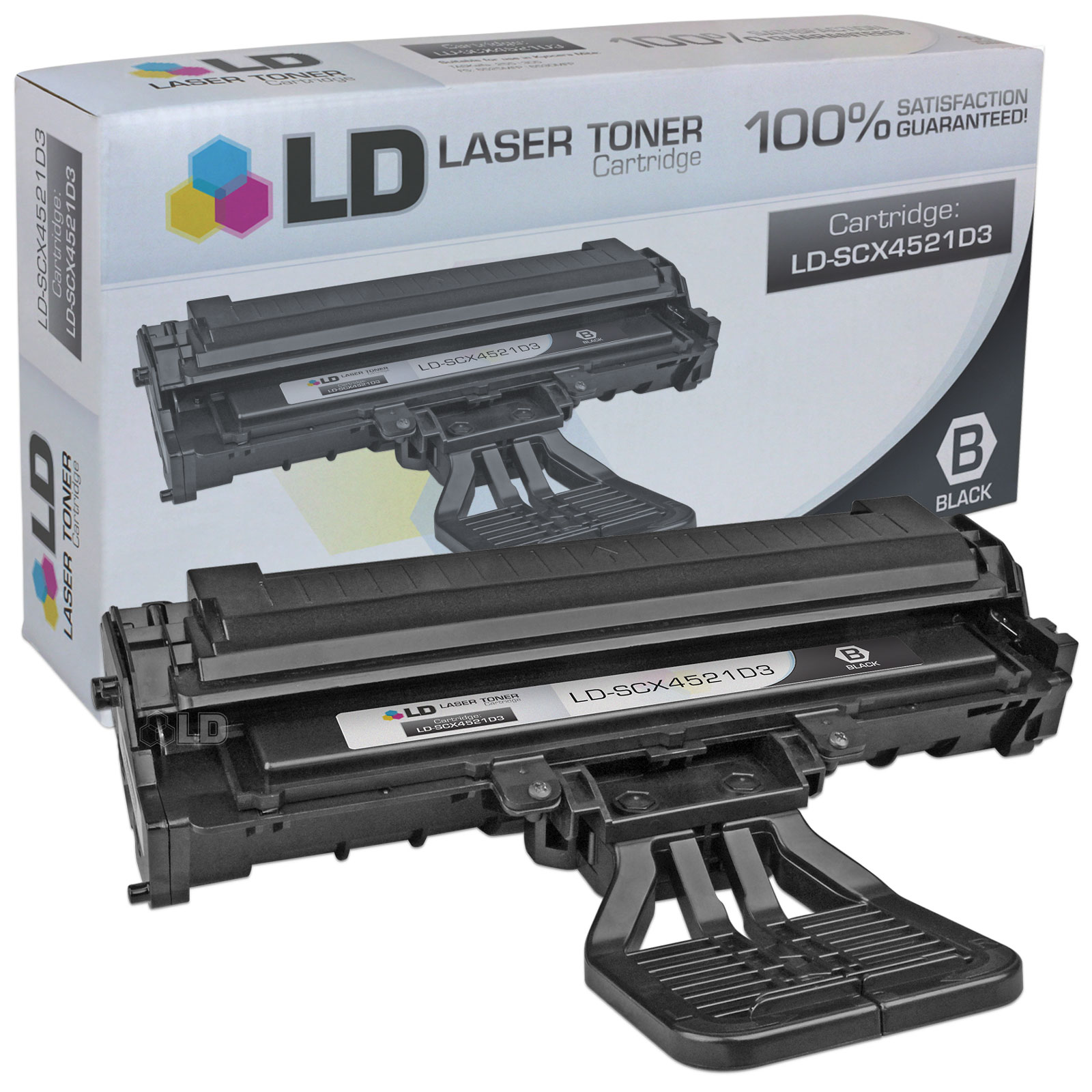 LD Compatible Replacement for Samsung SCX-4521D3 Black Laser Toner Cartridge for use in Samsung SCX-4321, SCX-4521, SCX-4521F, SCX-4521FG, and SCX-4521FR Printers