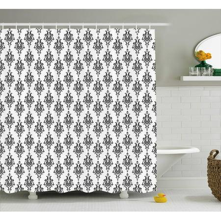 Damask Shower Curtain, Baroque Style Victorian Renaissance Pattern ...