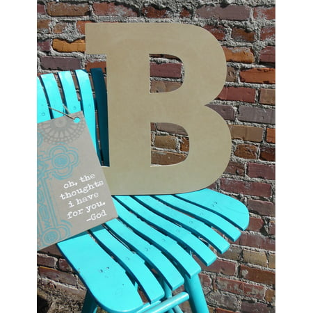 Craft Wooden Letter 6'' B, Unfinished Wood Wall Letter, - Letter B Crafts