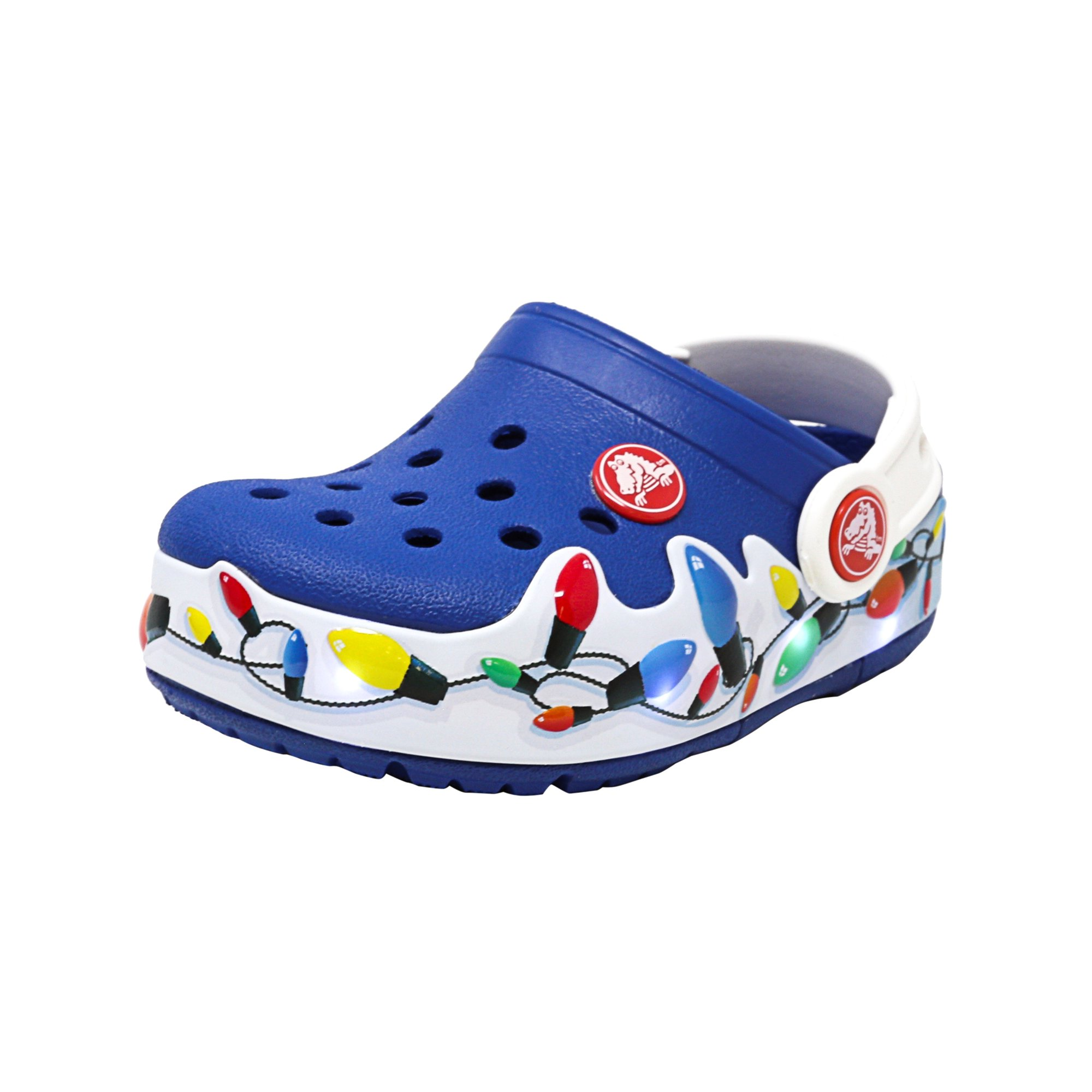 d141ffb6e9fc Buy Crocs Crocslights Holiday Clog Blue Jean Ankle-High Clogs - 9M ...