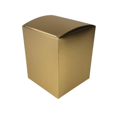 Rectangle Paper Gift Favor Boxes, 4-1/2-Inch, 12-Count, Gold](Gold Gift Box)