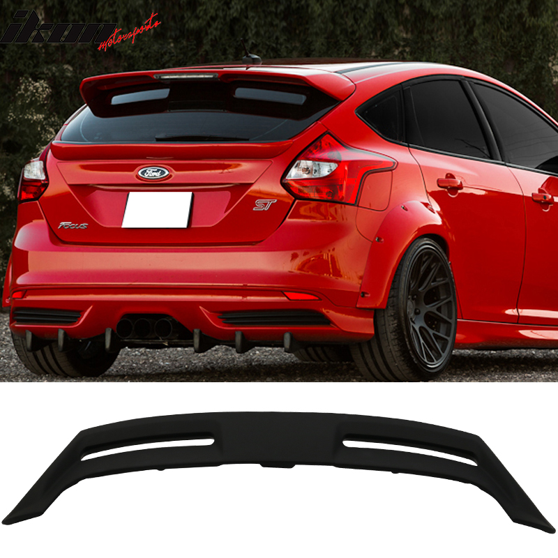 Fits 12-18 Ford Focus Hatchback ST OE Style Rear Roof Spoiler Wing Unpainted ABS