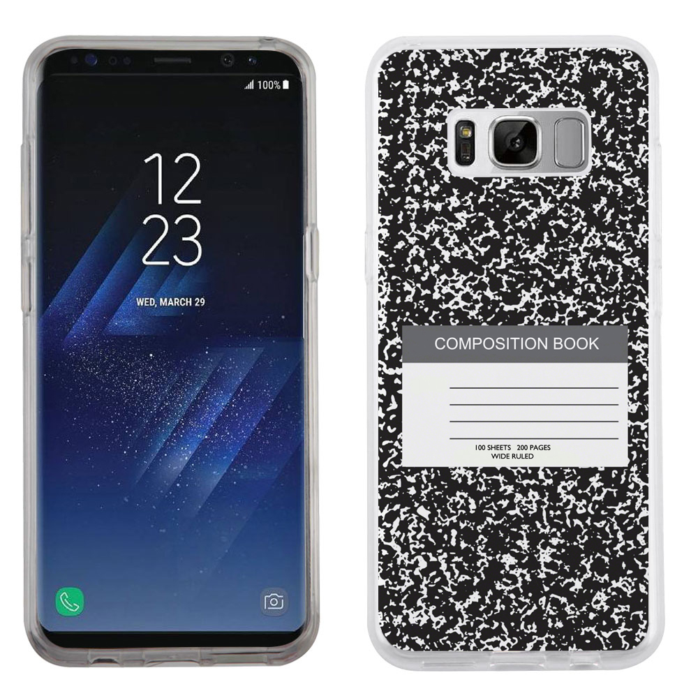 Fit Galaxy S8, OneToughShield ® Slim-Fit Premium TPU Gel Phone Case for Samsung Galaxy S8 - Composition Book