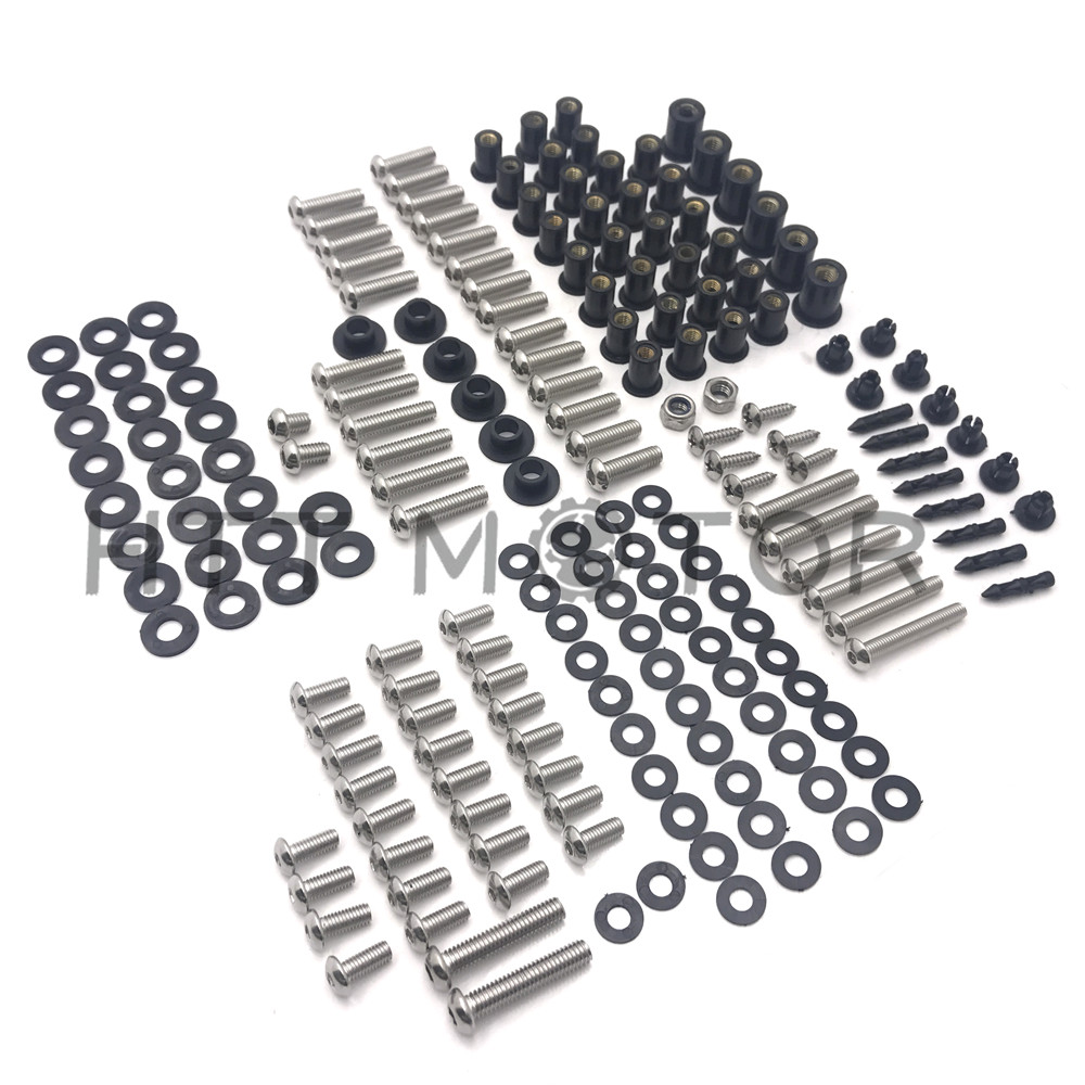 HTTMT- For Kawasaki ZX-14 2006-2011 179 PCs Fairing Bolt Kit Screws Bolts Stainless