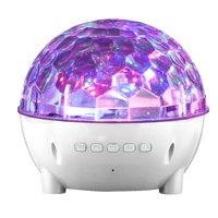 Mini Colorful Stage Lights Wireless Bluetooth Speaker for Alcatel U5,A7, IDOL 5, GO FLIP, A3, A5 LED, A3 XL, Pixi 4 Plus Power, POP 4, Fierce 4 (White)