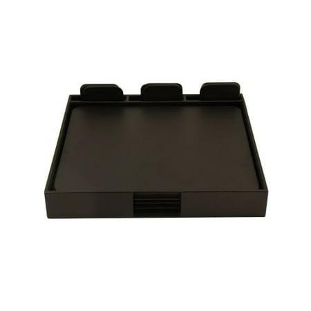 Bey Berk Black Leather 19 Piece Conference Desk Set