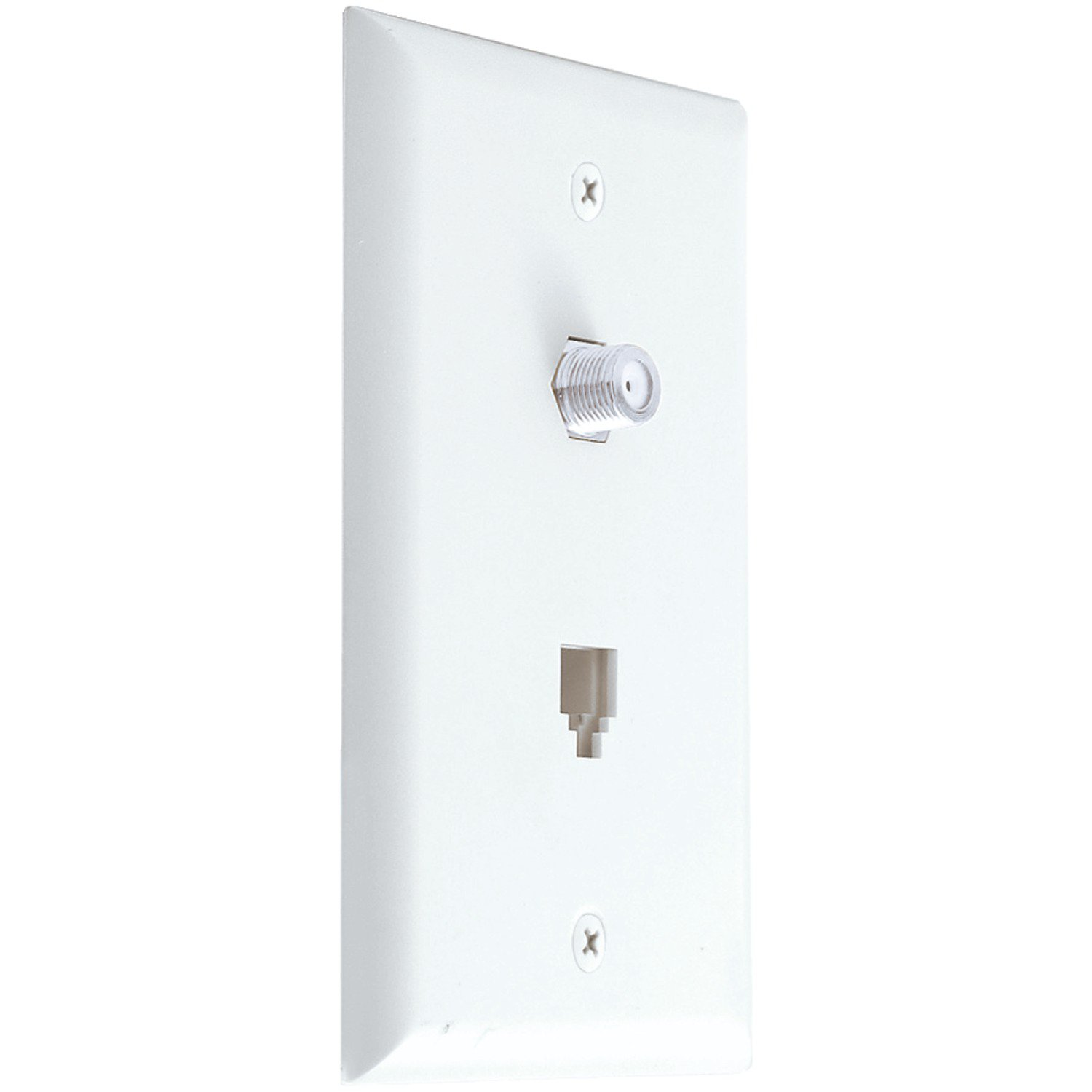 Axis Communications Modular Phone and Coaxial Wall Plate in White