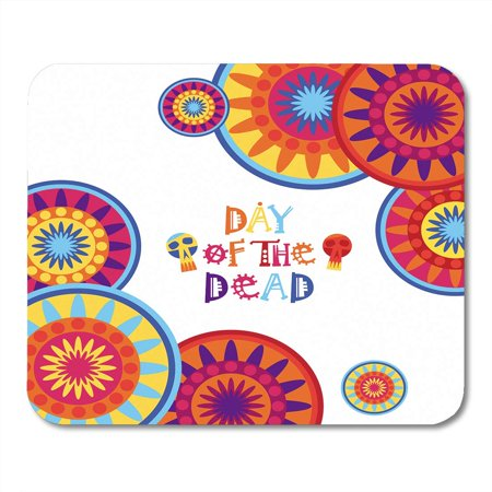 LADDKE Colorful Hispanic Day of Dead Traditional Mexican Halloween Dia De Los Muertos Holiday Party Flat Skull Mousepad Mouse Pad Mouse Mat 9x10 inch](Dia De Halloween En Mexico)