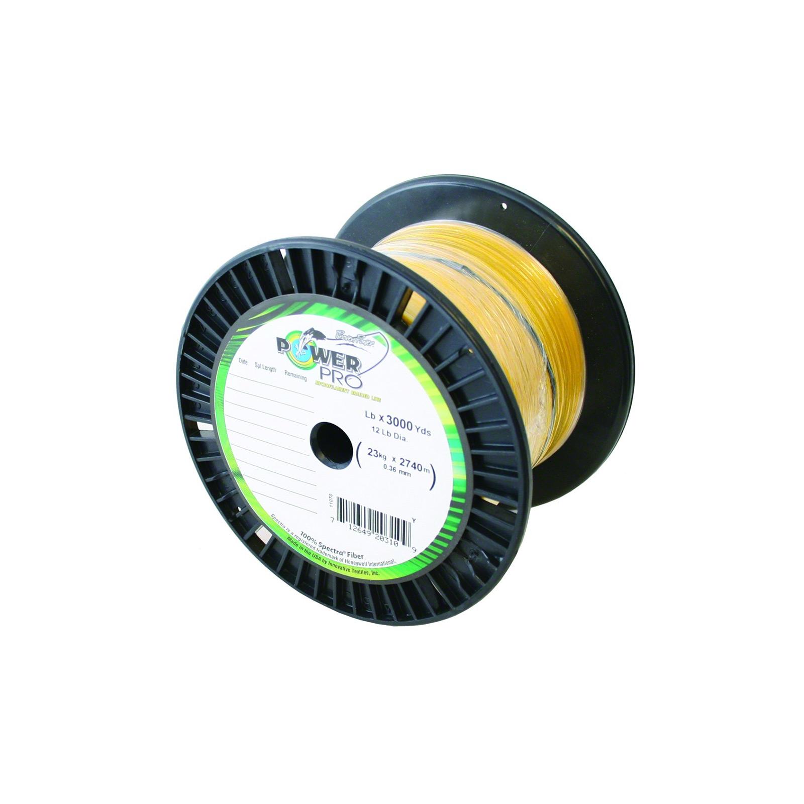 Power Pro Spectra 30lb 3000yds Hi-Vis Yel Braid, 30-3000-Y