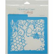 Rebecca Baer RB-MED-8009 Stencil 7. 75 x 7. 75 inch - Honeycomb