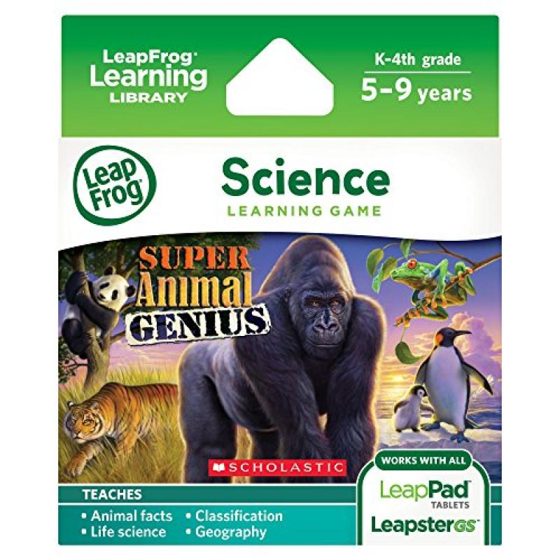 LeapFrog Animal Genius Learning Game (works with LeapPad Tablets, LeapsterGS, and Leapster... by
