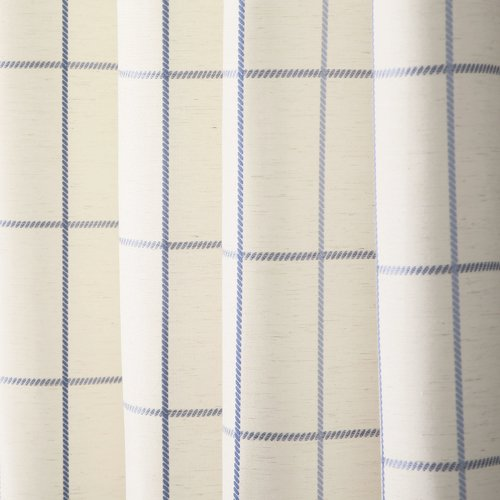 Best Home Fashion, Inc. Grommet Grid Stitched Linen Blend Plaid & Check Semi-Sheer Curtain Panels (Set of 2)