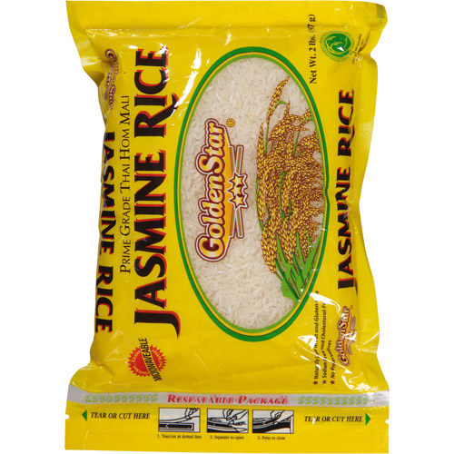 Golden Star Jasmine Rice, 2 lbs, (Pack of 12)