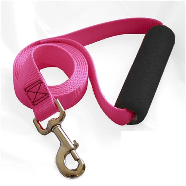 Majestic Pet Products 788995284192 1in x 4ft Easy Grip Handle Leash Pink