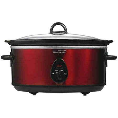 Everstar Appliances - Brentwood Appliances SC-150R 6.5 Quart Slow Cooker (red)