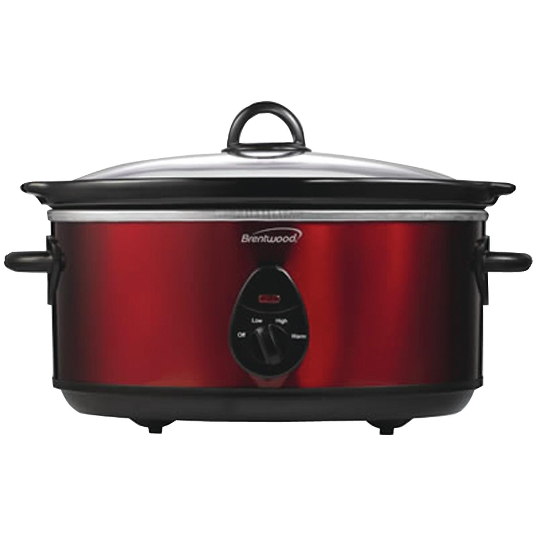 Brentwood Appliances SC-150R 6.5 Quart Slow Cooker (red)