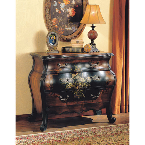 ACME Darcey Bombay Chest, Antique Black & Oak