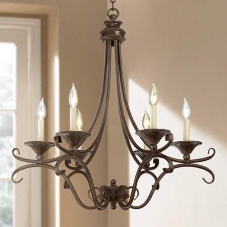 Regency Hill Bronze and Copper Six Light Chandelier