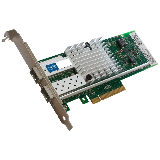 AddOn - 430-4436-AOK - AddOn Dell 430-4436 Comparable 10Gbs Dual Open SFP+ Port Network Interface Card with PXE boot -