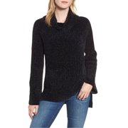 Lucky Brand   Chenille Cowl Neck Sweater   Black