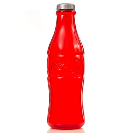 "23"" Coca Cola Large Bottle Bank for Coin Collection - Color Red"