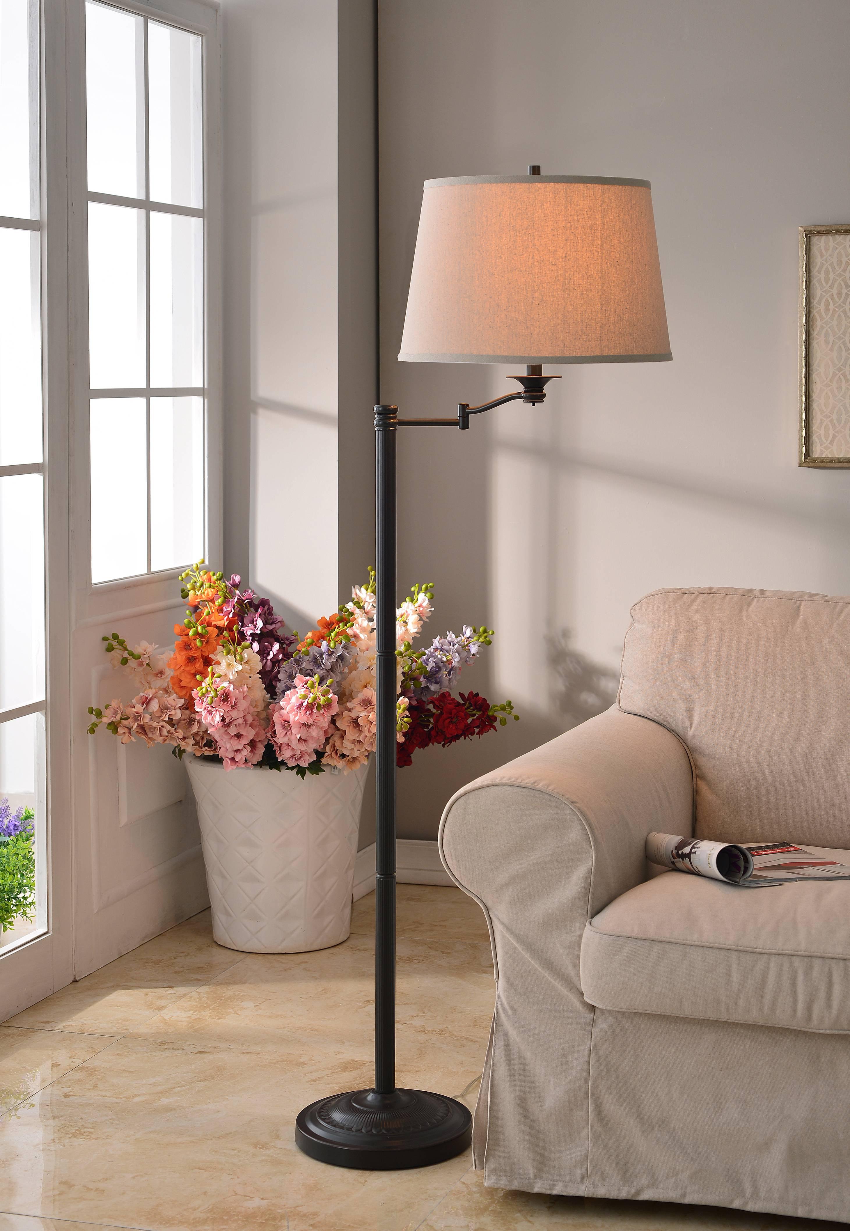Kenroy Home Riverside Swing Arm Floor Lamp, Copper Bronze by Kenroy Home