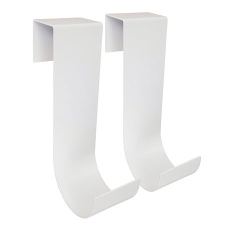 Mide Products Long Fence Mount Hook 10 in. L Aluminum White 25 lb. 2 pk - Fence Hooks