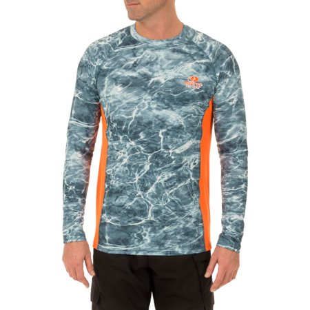 Mossy Oak Men's Insect Repellent Long Sleeve Performance Fishing Tee -