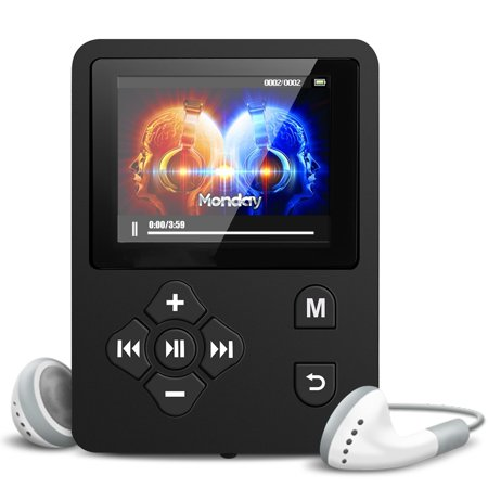 TSV MP3/MP4 Music Player,Expandable Up to 32GB Portable Audio Player with Photo Viewer, Voice Recorder, FM Radio, A-B Playback, E-Book,With (Best Portable Audio Recorder For Music)
