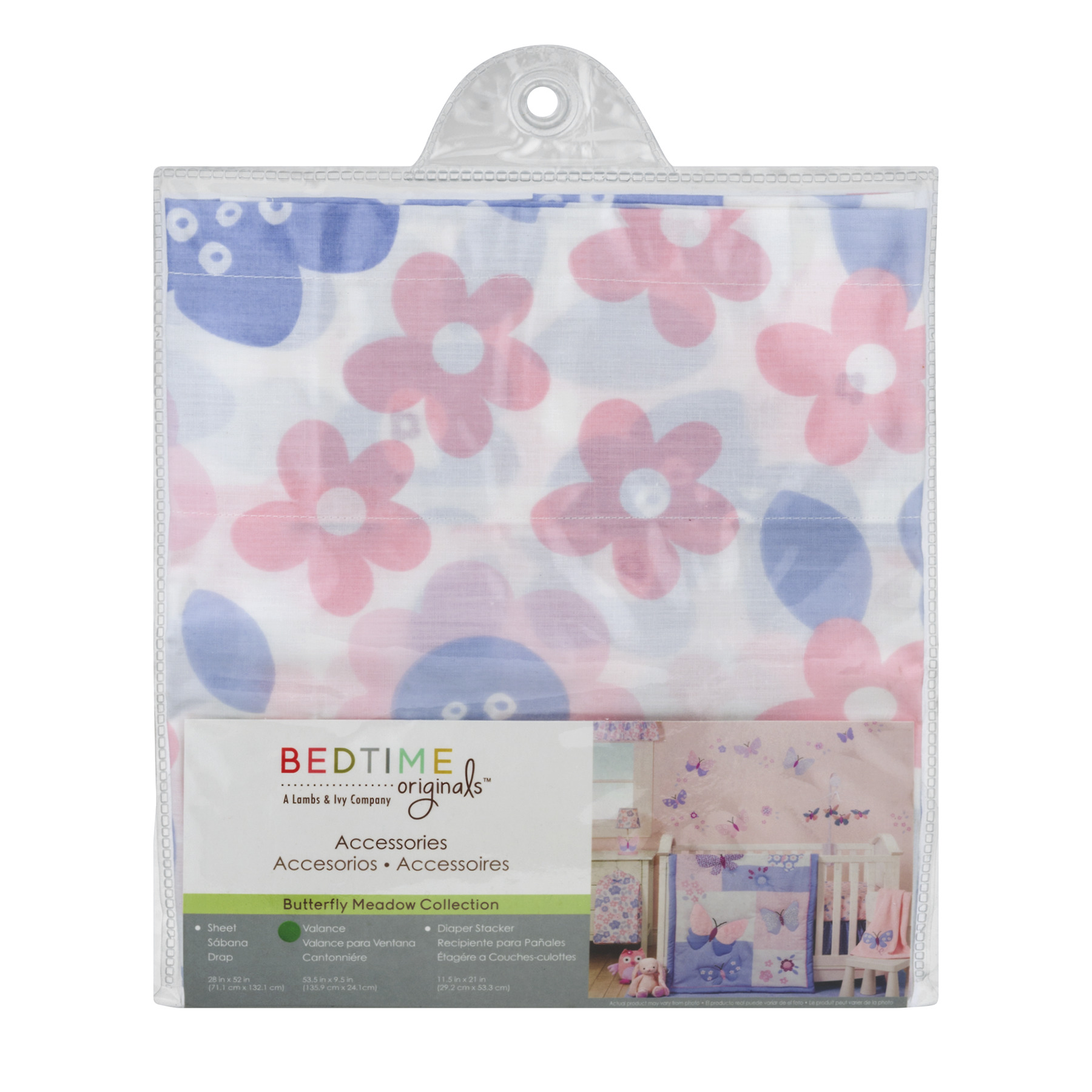 Bedtime Originals Valance , Butterfly Meadow Collection, 1.0 CT