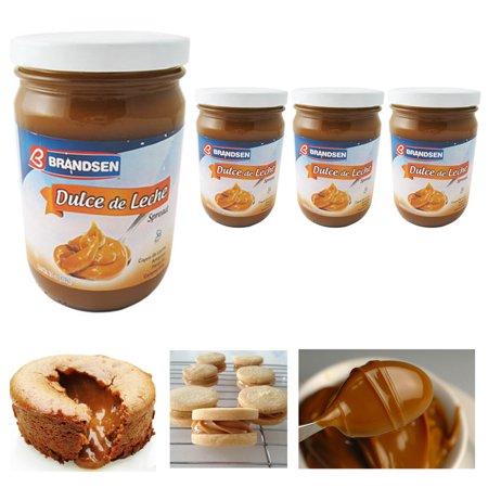 4 Jars Dulce De Leche Argentina Milk Caramel Spread Kosher Arequipe Brandsen Lot (Dulce De Leche Caramel)
