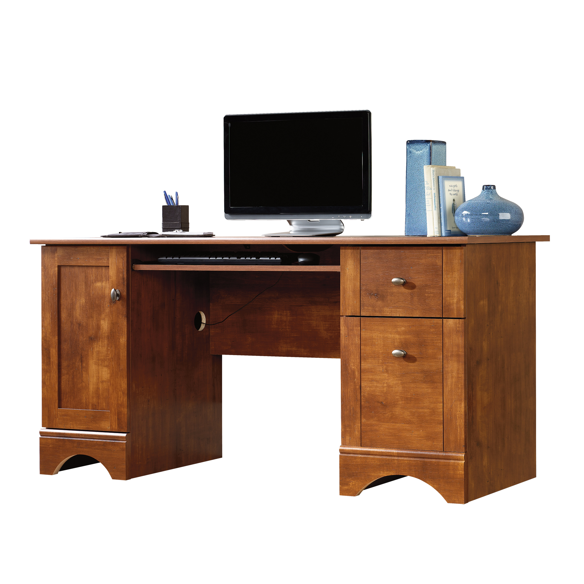 Sauder Select Computer Desk, Brushed Maple Finish