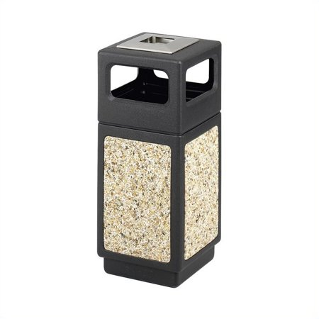 Scranton & Co Outdoor Aggregate Panel Side Opening Receptacle with Urn