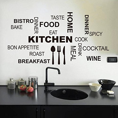 Wall Sticker,Ikevan Hot Kitchen Letter Removable Vinyl Wall Stickers Mural Decal Quotes Art Home Dec