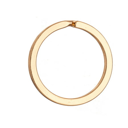 30mm Flat Round Gold Finished Steel Split Ring pack of 10 (2-Pack Value Bundle), SAVE $1