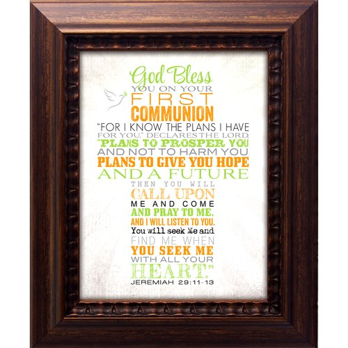 The James Lawrence Company 1st Communion-God Bless You Framed Textual Art