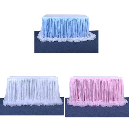 Mesh Gauze Table Skirt Tulle Table Yarn Skirt Wedding Celebration Supplies - image 2 of 9