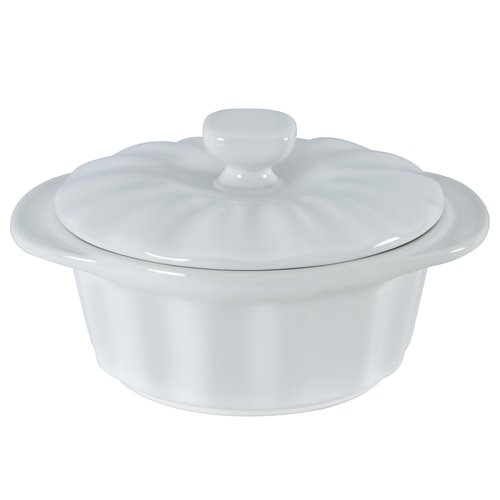 Mainstays 1.5 quart Ceramic Casserole Lid, White