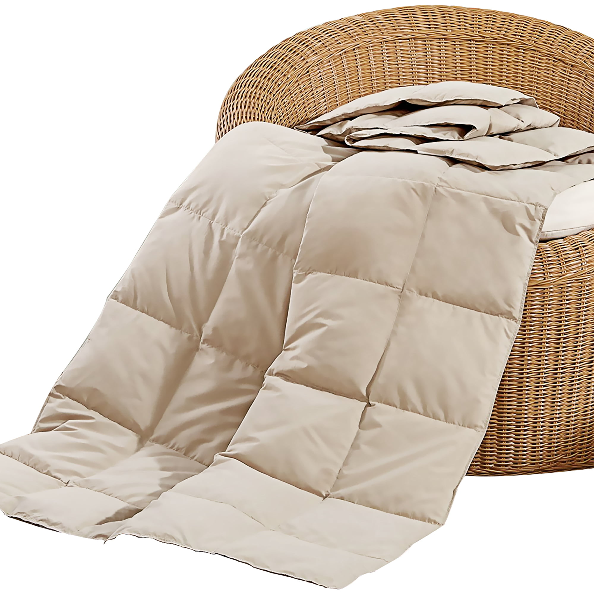 Peace Nest Natural Down And Feather Blanket Throw Tan