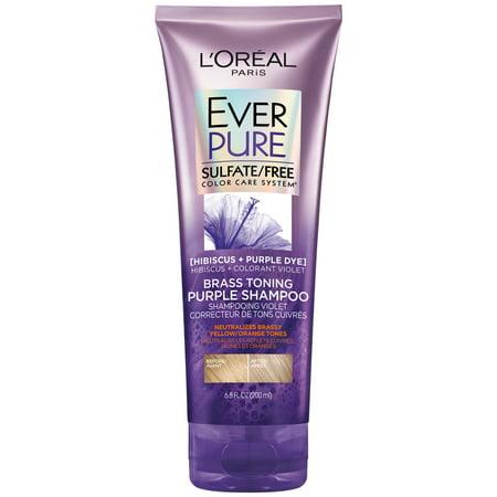 L'Oreal Paris EverPure Brass Toning Purple Sulfate Free Shampoo, 6.8 fl. oz.