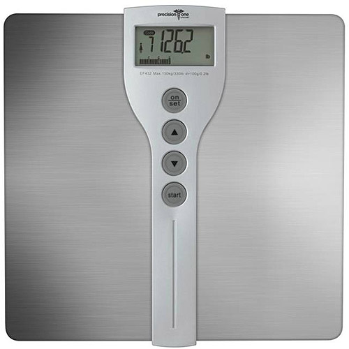 Precision One Stainless Steel Digital Body Fat/Composition Bath Scale